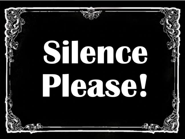 Silents Please card